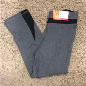 New with tags gray workout capris